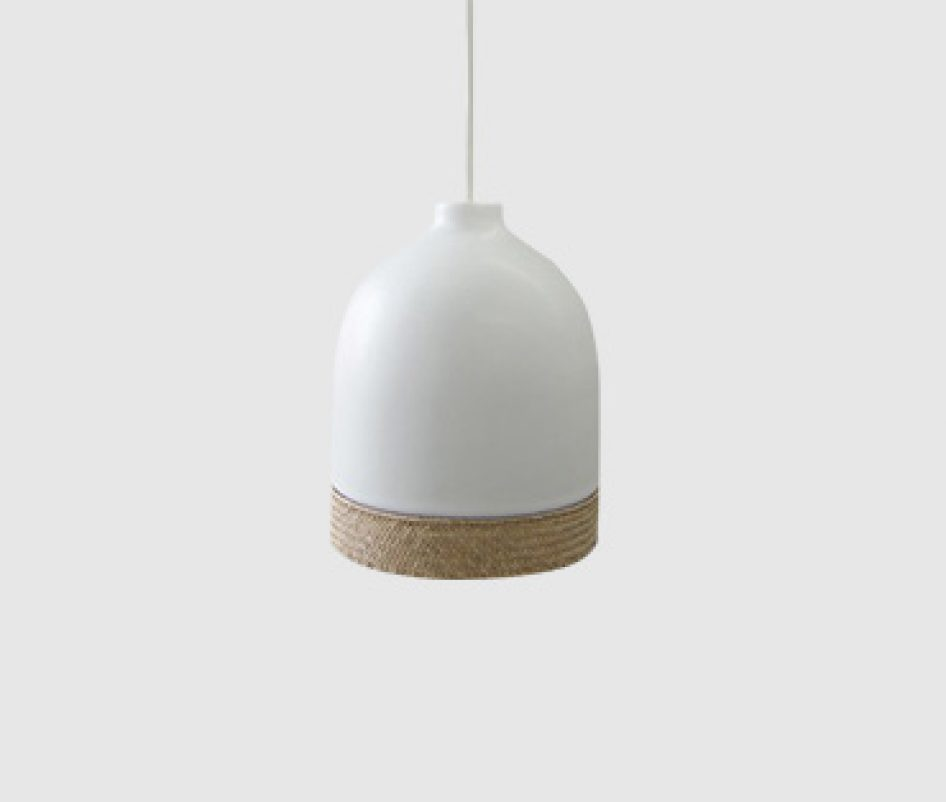 Ceramic small pendant light